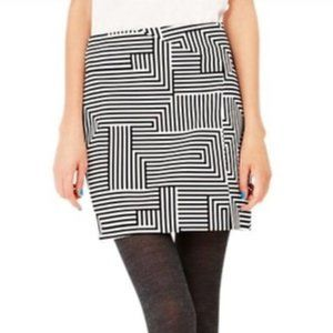 Kate Spade Saturday Geometric Mini Skirt with Slit